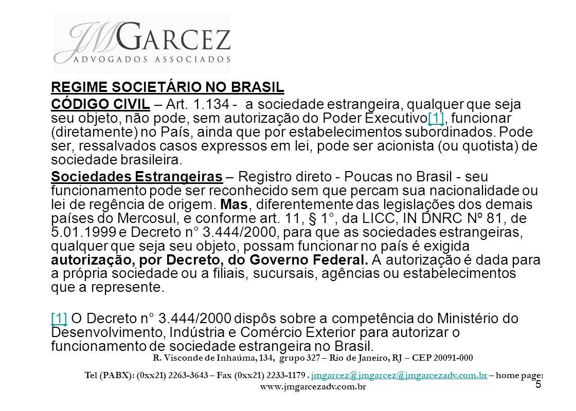 REGIME SOCIETÁRIO NO BRASIL