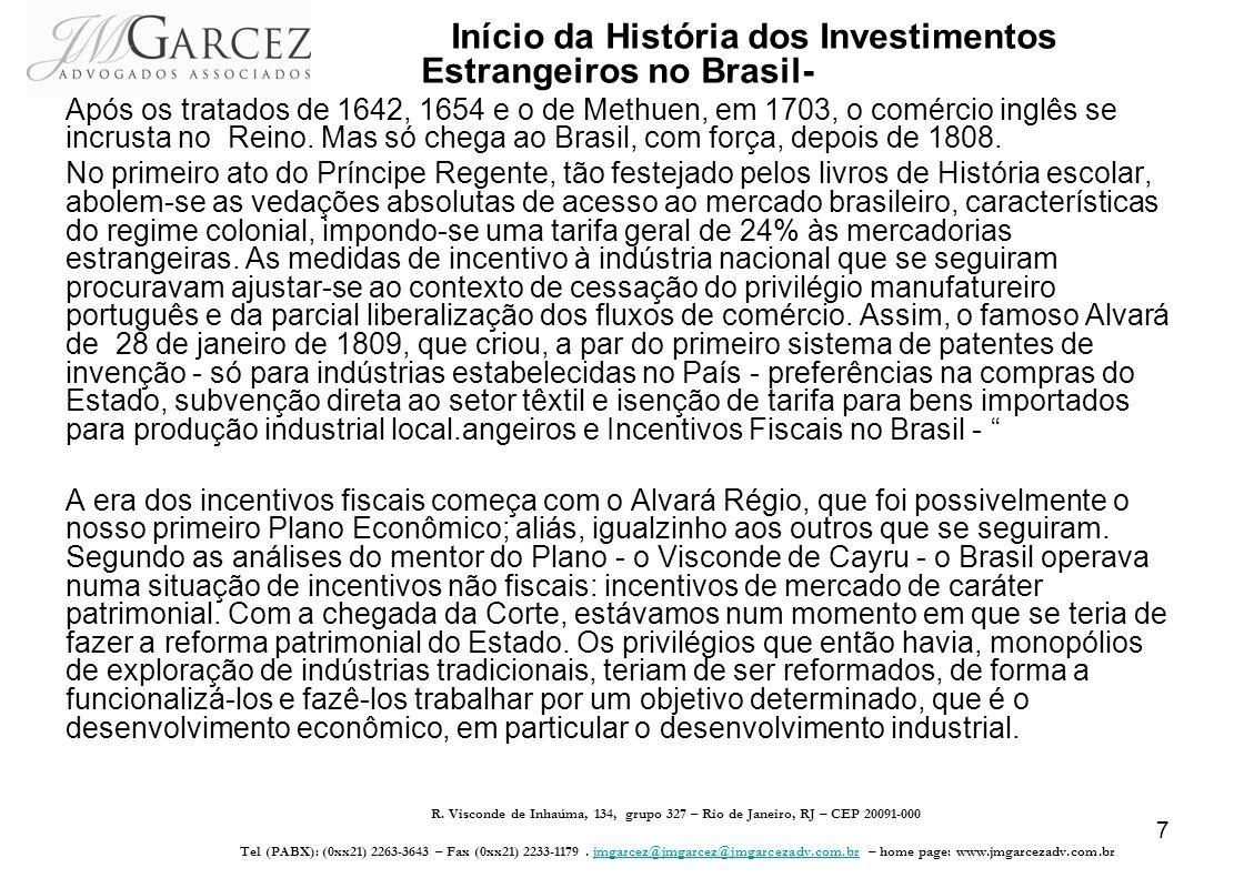 Início da História dos Investimentos Estrangeiros no Brasil-