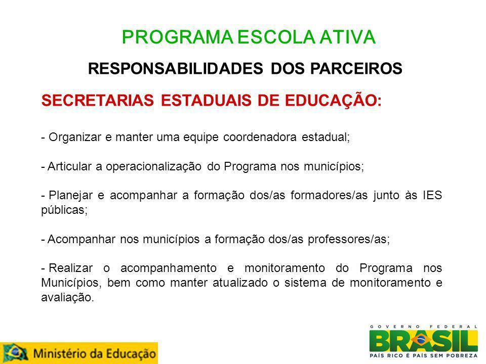 RESPONSABILIDADES DOS PARCEIROS