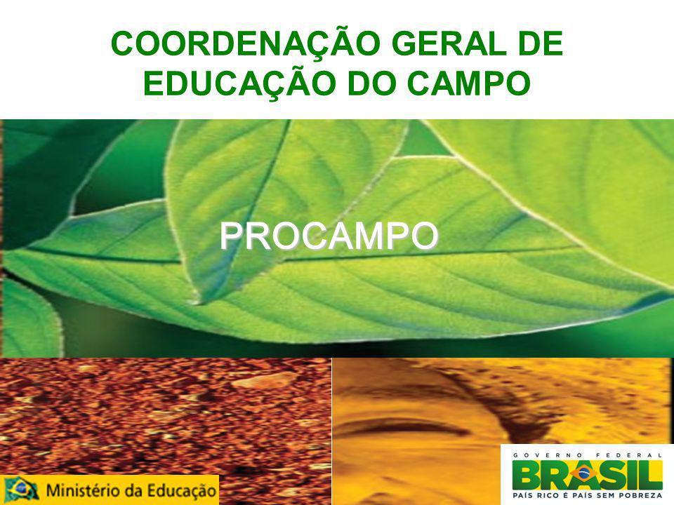 COORDENAÇÃO GERAL DE EDUCAÇÃO DO CAMPO
