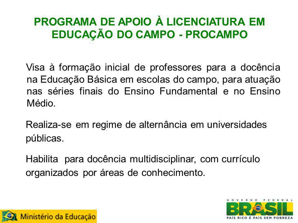 PROGRAMA DE APOIO À LICENCIATURA EM EDUCAÇÃO DO CAMPO - PROCAMPO