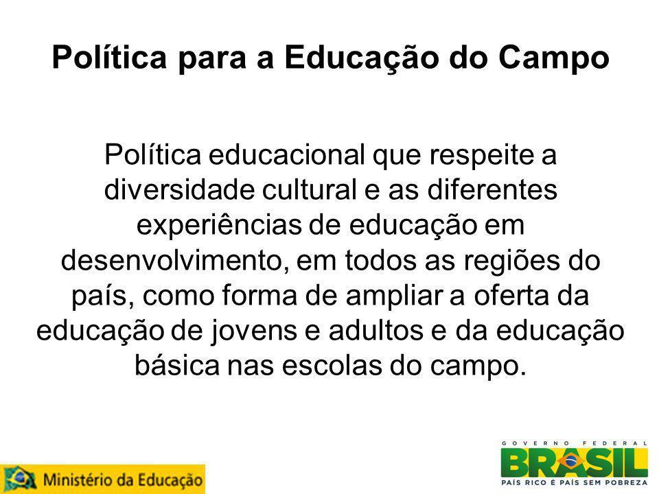 Política para a Educação do Campo