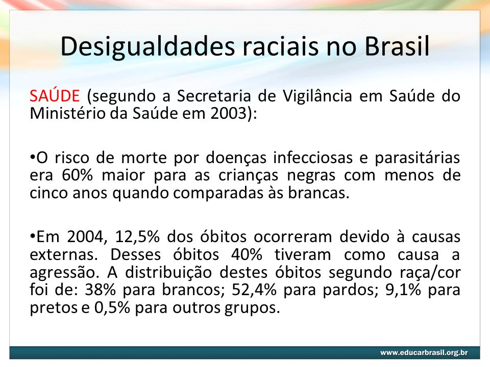 Desigualdades raciais no Brasil
