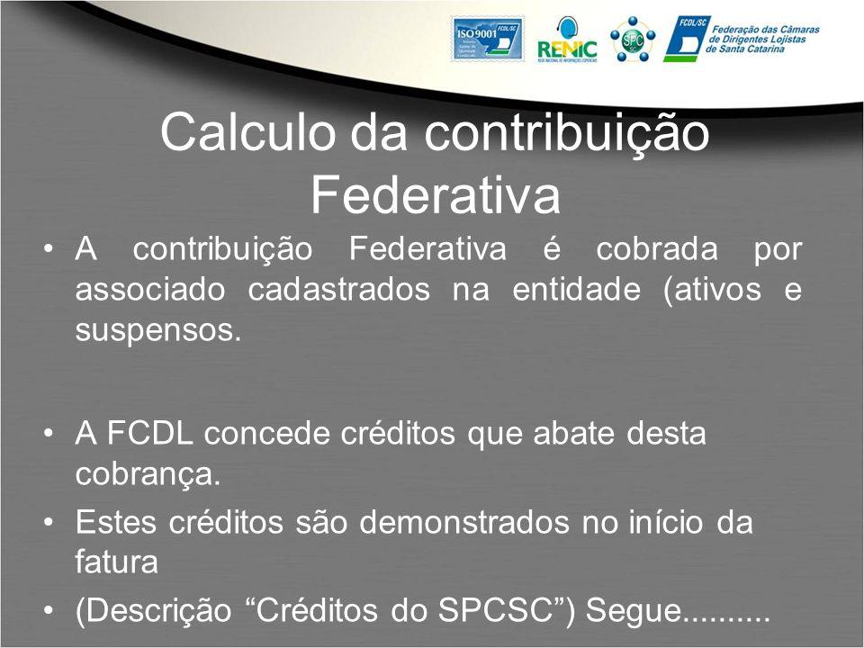 Calculo da contribuição Federativa