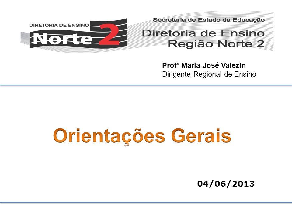 Orientações Gerais 04/06/2013 Profª Maria José Valezin
