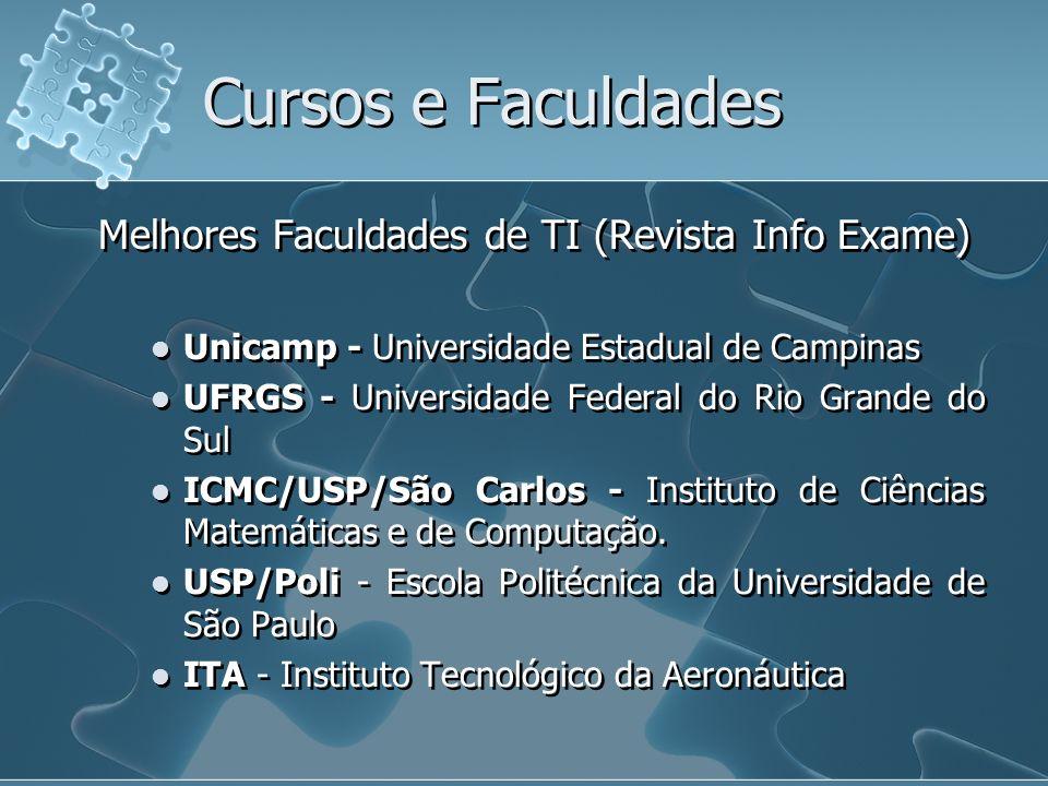 Cursos e Faculdades Melhores Faculdades de TI (Revista Info Exame)