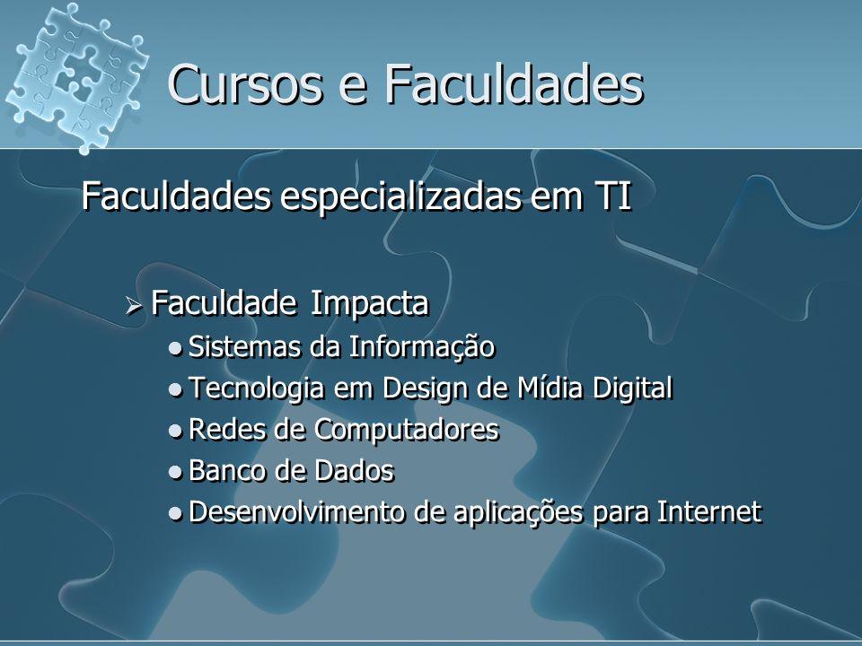 Cursos e Faculdades Faculdades especializadas em TI Faculdade Impacta