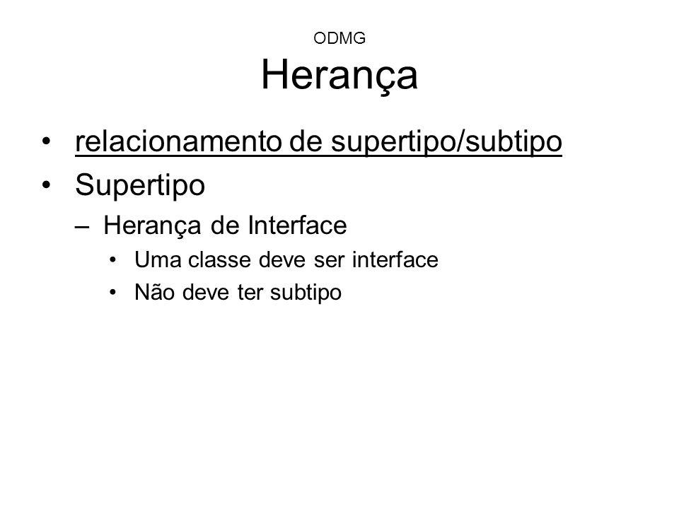 relacionamento de supertipo/subtipo Supertipo