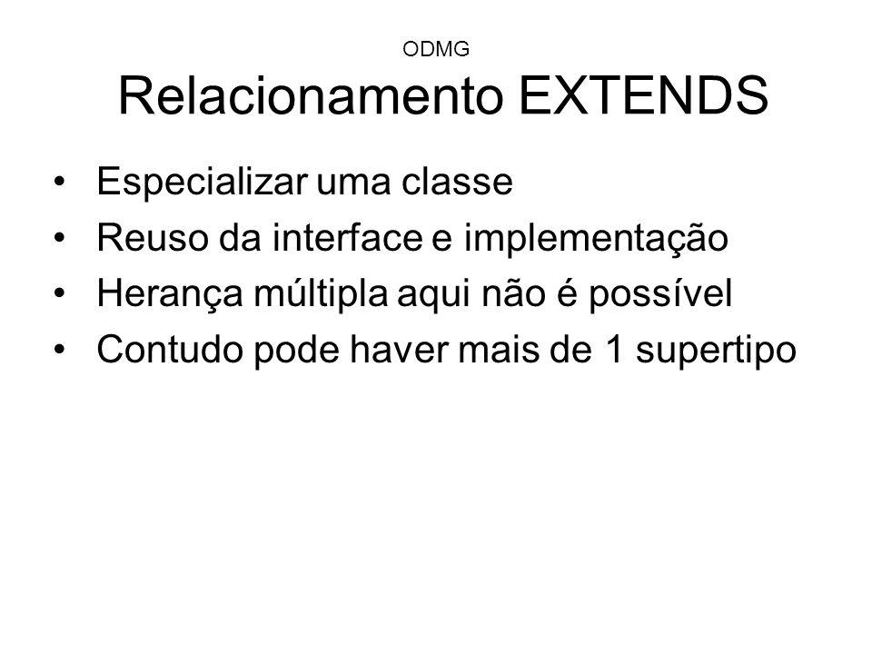 ODMG Relacionamento EXTENDS