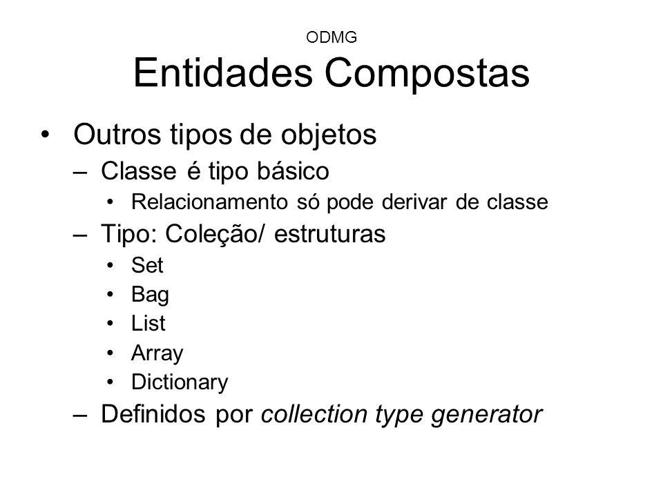 ODMG Entidades Compostas