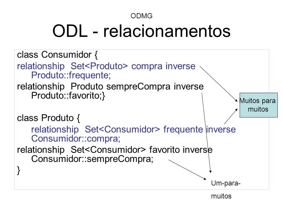 ODMG ODL - relacionamentos