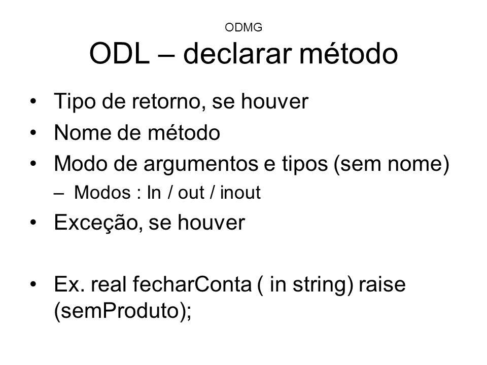 ODMG ODL – declarar método