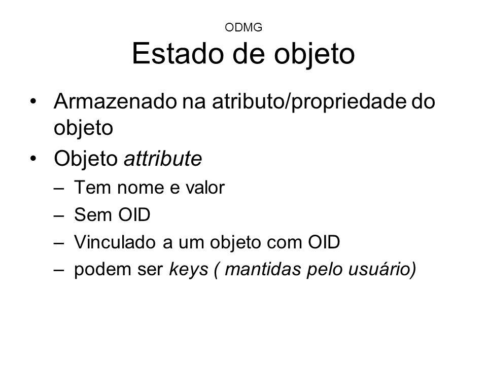 Armazenado na atributo/propriedade do objeto Objeto attribute
