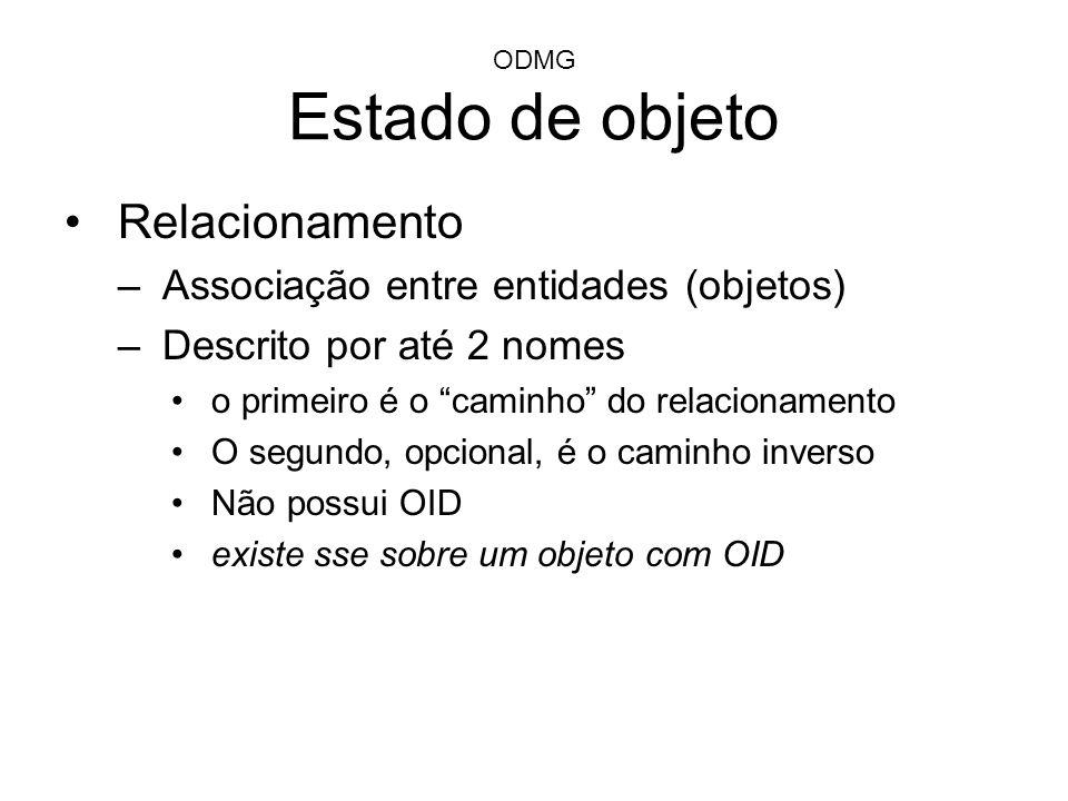 Relacionamento Associação entre entidades (objetos)