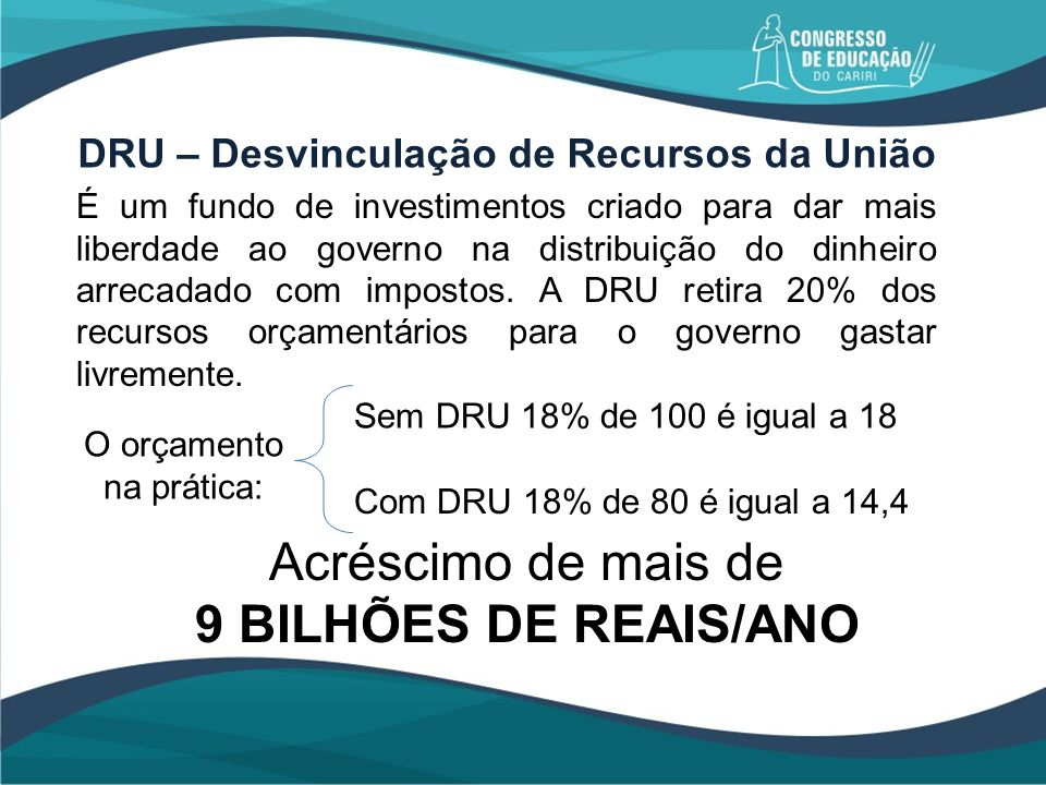 DRU – Desvinculação de Recursos da União