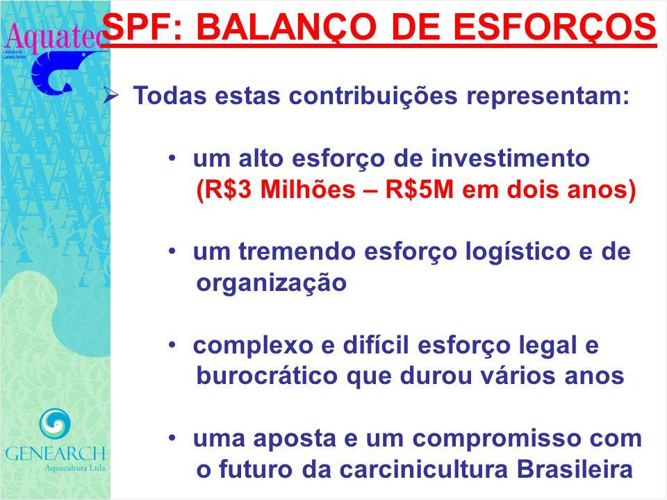SPF: BALANÇO DE ESFORÇOS