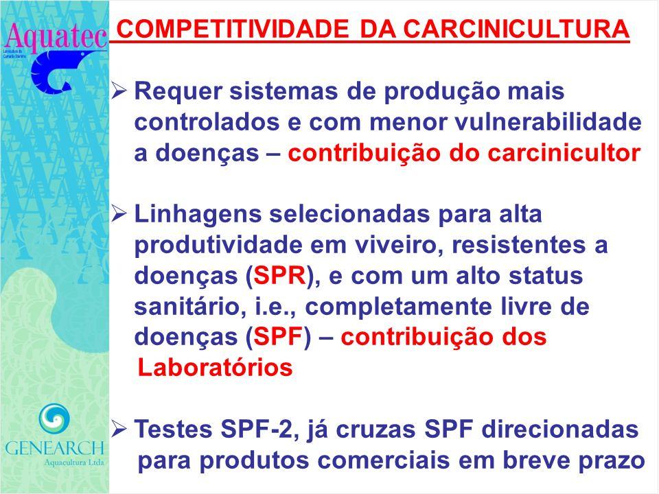 COMPETITIVIDADE DA CARCINICULTURA