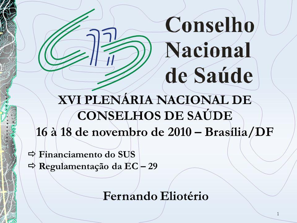XVI PLENÁRIA NACIONAL DE CONSELHOS DE SAÚDE
