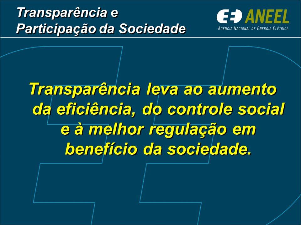 Transparência e Participação da Sociedade