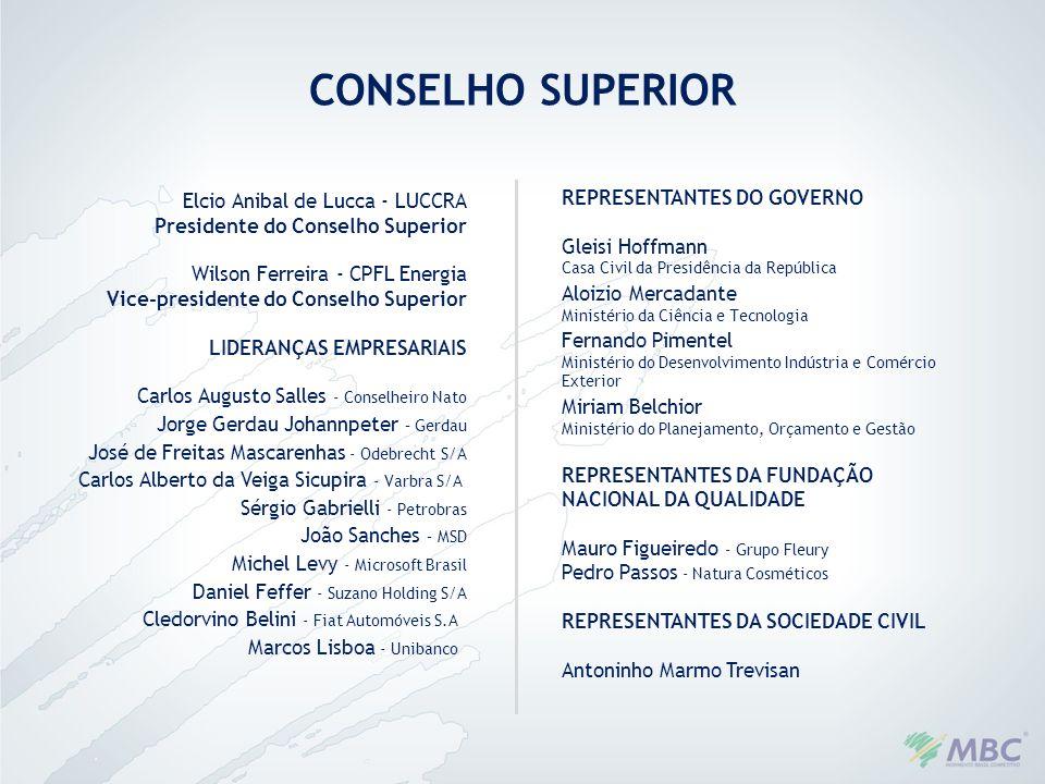 CONSELHO SUPERIOR REPRESENTANTES DO GOVERNO