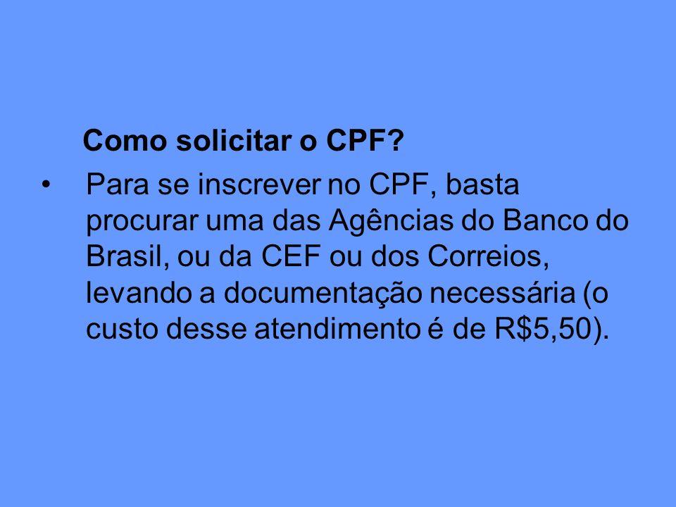 Como solicitar o CPF