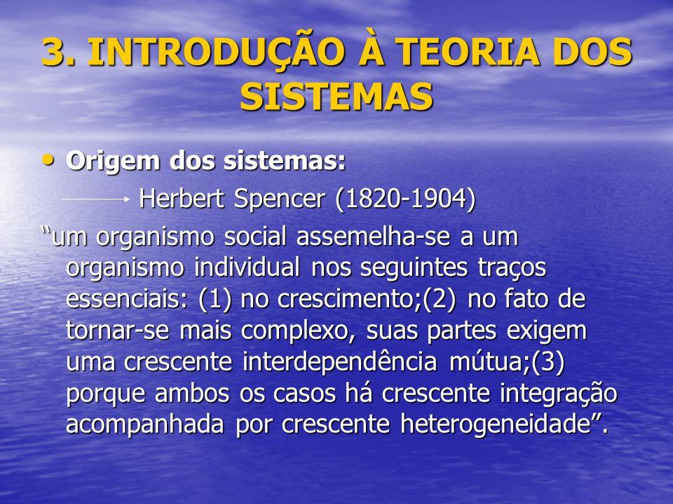 3. INTRODUÇÃO À TEORIA DOS SISTEMAS
