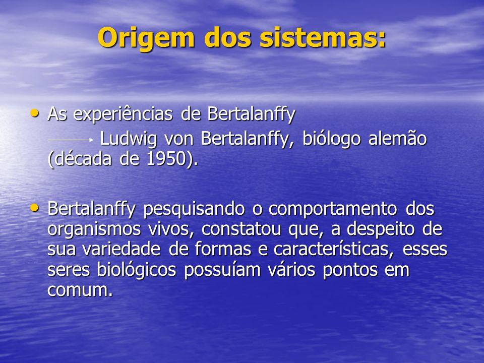 Origem dos sistemas: As experiências de Bertalanffy