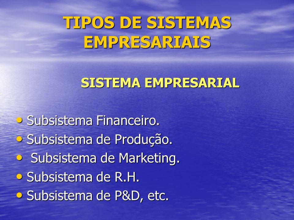 TIPOS DE SISTEMAS EMPRESARIAIS