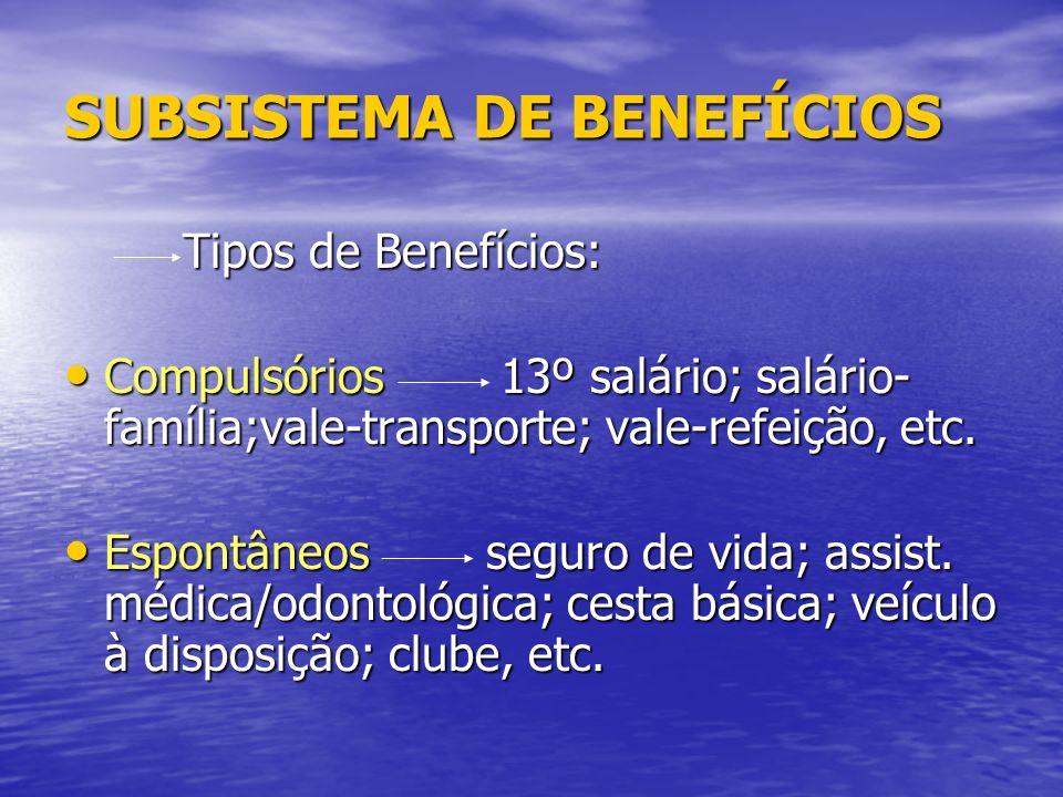 SUBSISTEMA DE BENEFÍCIOS