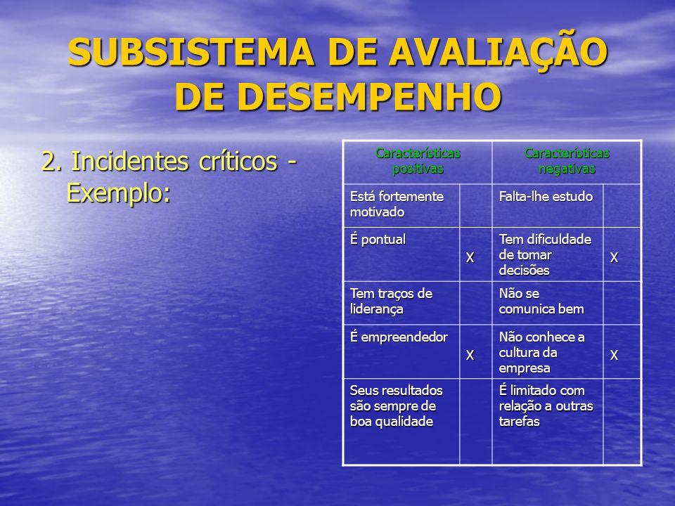SUBSISTEMA DE AVALIAÇÃO DE DESEMPENHO