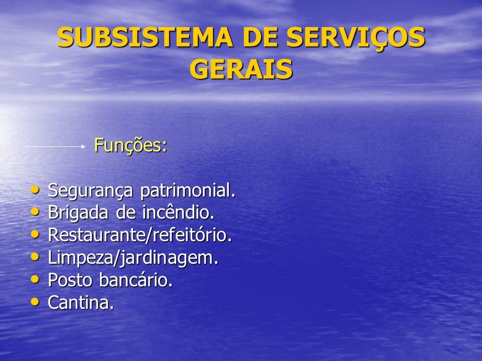 SUBSISTEMA DE SERVIÇOS GERAIS