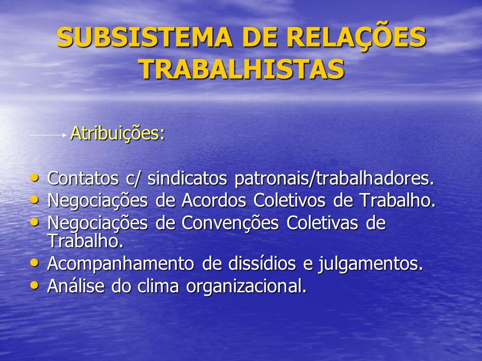 SUBSISTEMA DE RELAÇÕES TRABALHISTAS