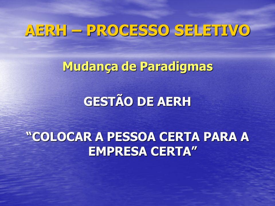 AERH – PROCESSO SELETIVO