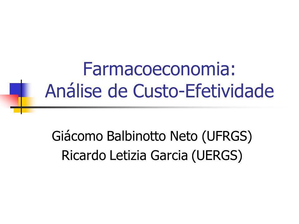 Farmacoeconomia: Análise de Custo-Efetividade