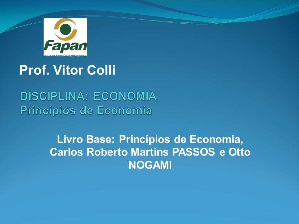 DISCIPLINA: ECONOMIA Princípios de Economia