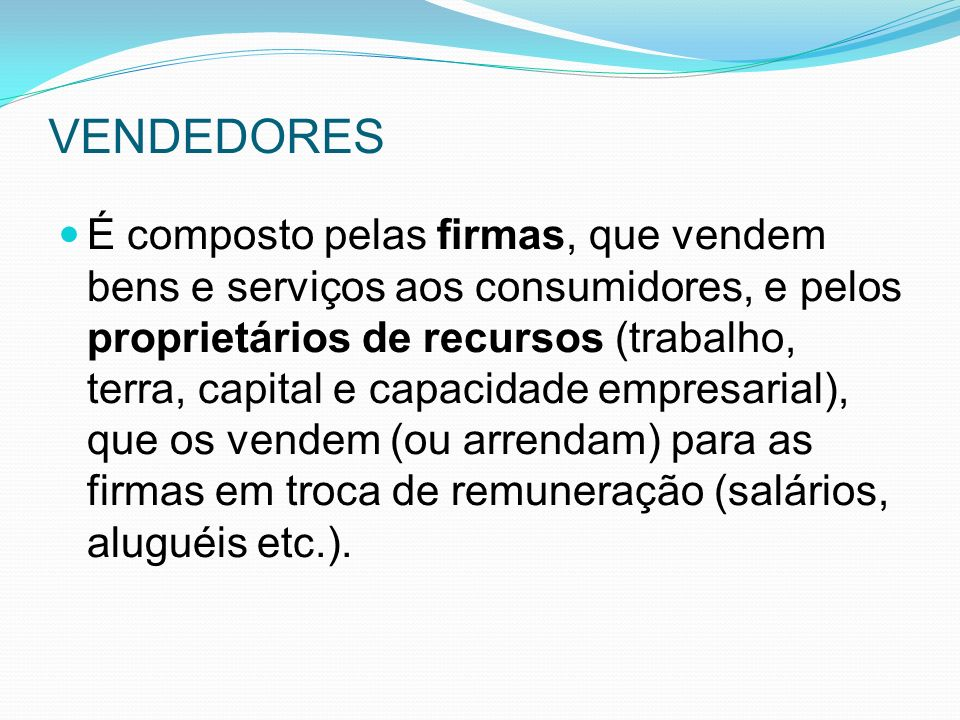 VENDEDORES