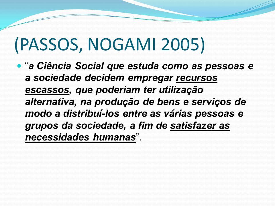 (PASSOS, NOGAMI 2005)