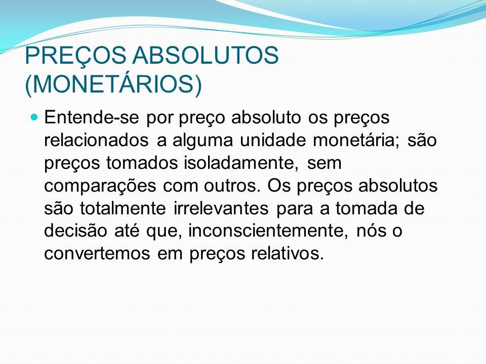 PREÇOS ABSOLUTOS (MONETÁRIOS)