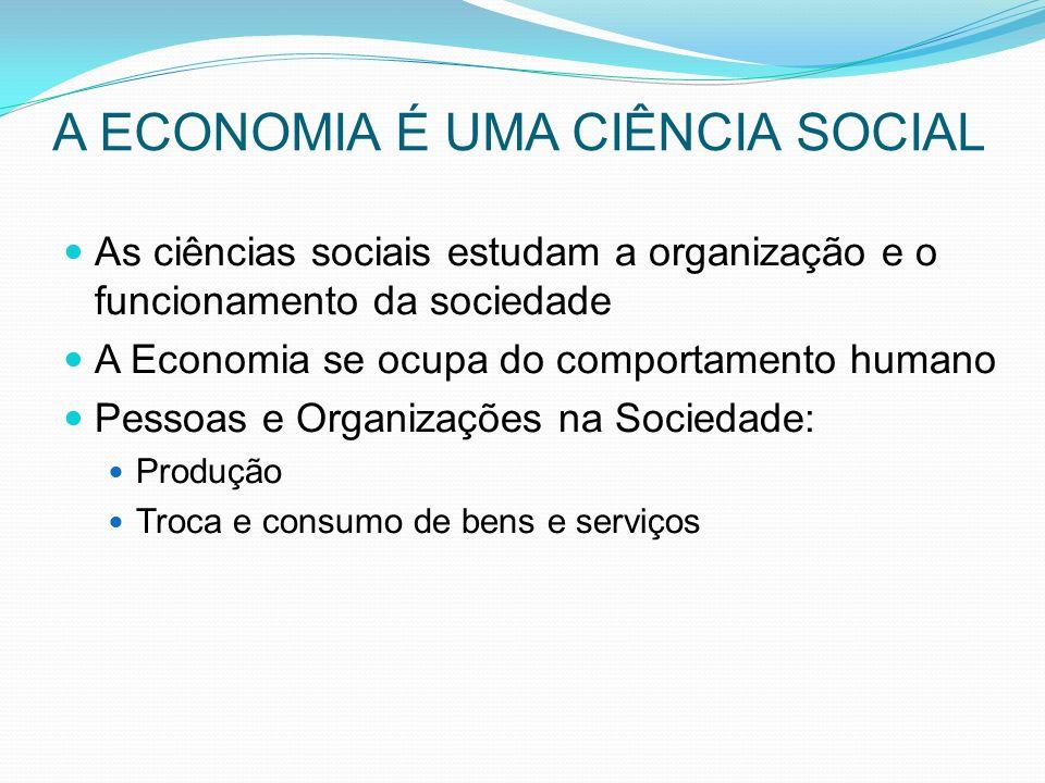 A ECONOMIA É UMA CIÊNCIA SOCIAL