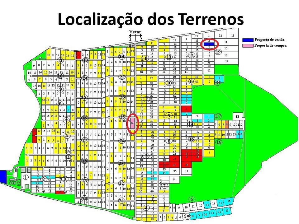 Localização dos Terrenos