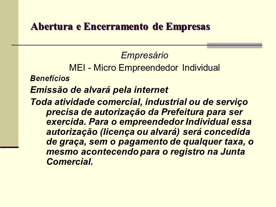 Abertura e Encerramento de Empresas