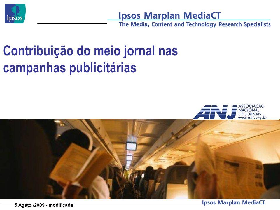 Contribuição do meio jornal nas campanhas publicitárias