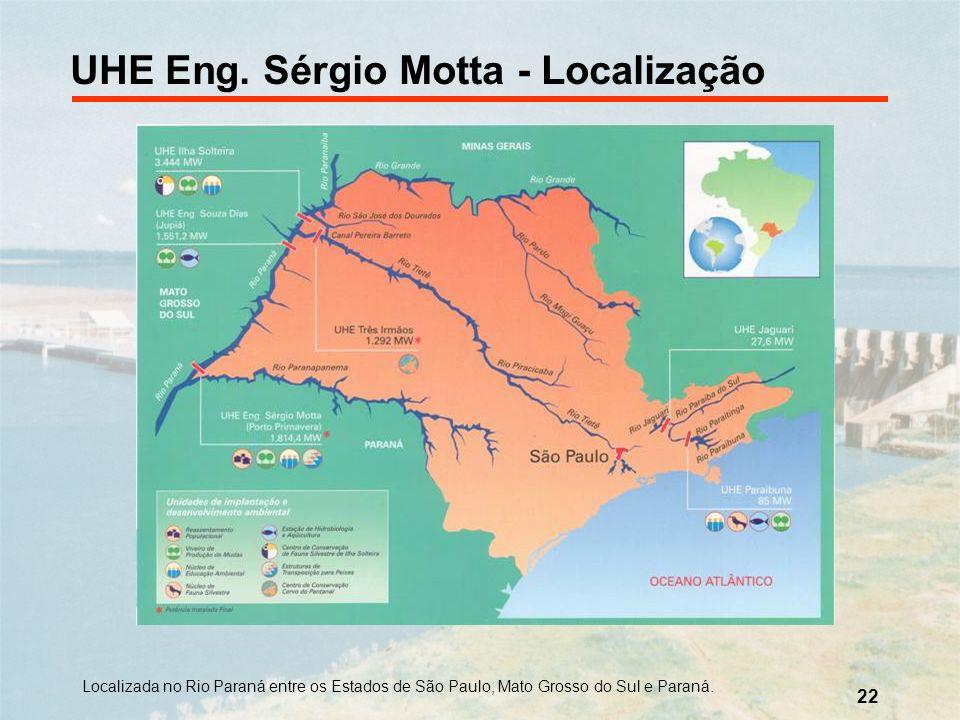UHE Eng. Sérgio Motta - Localização