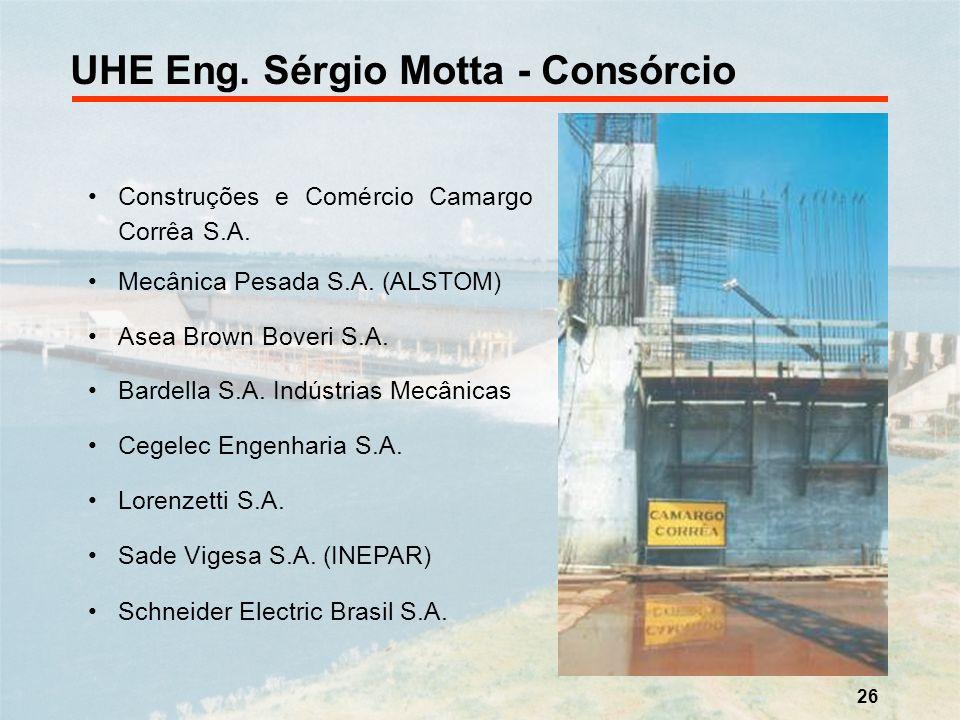 UHE Eng. Sérgio Motta - Consórcio