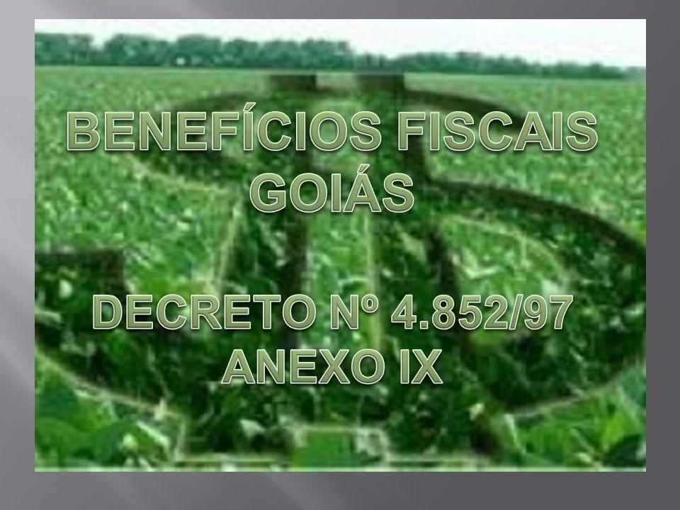 BENEFÍCIOS FISCAIS GOIÁS