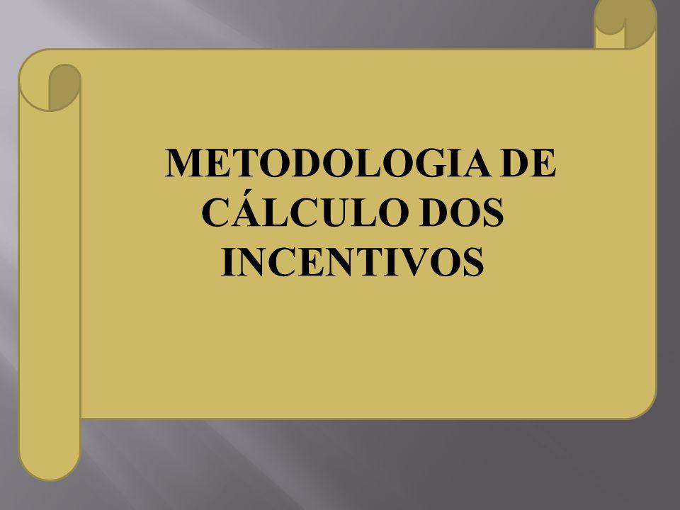 METODOLOGIA DE CÁLCULO DOS INCENTIVOS