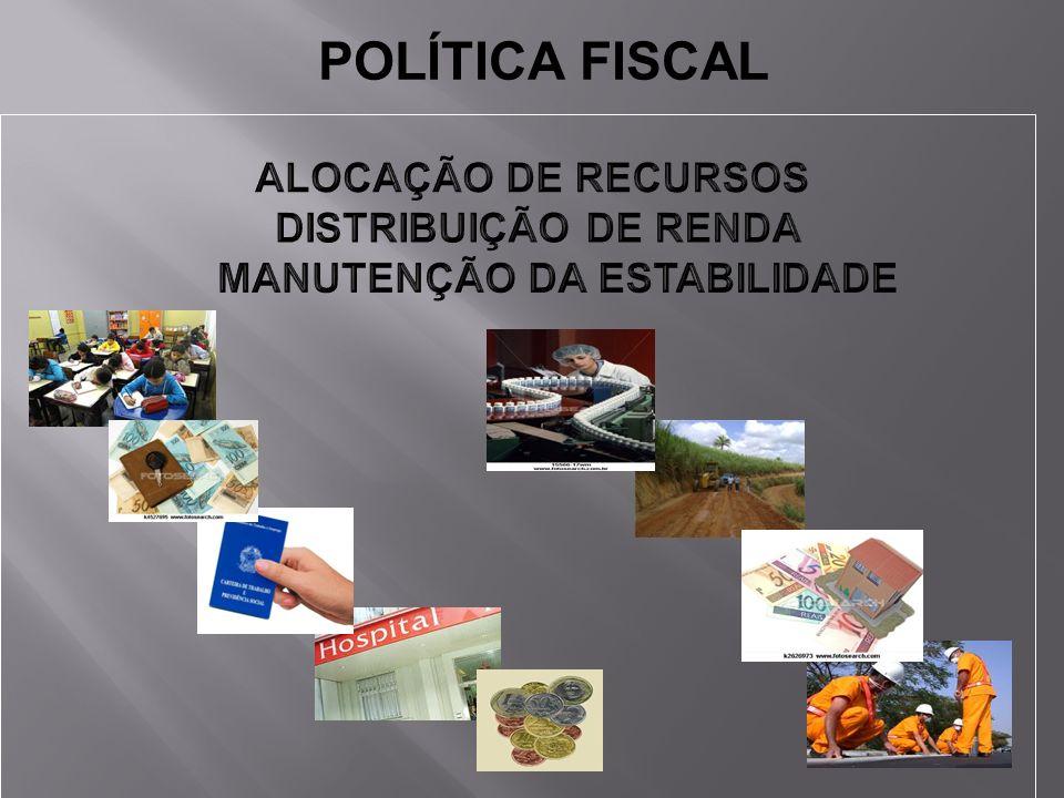 POLÍTICA FISCAL DISTRIBUIÇÃO DE RENDA MANUTENÇÃO DA ESTABILIDADE