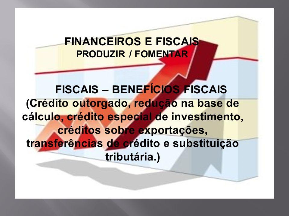 FISCAIS – BENEFÍCIOS FISCAIS