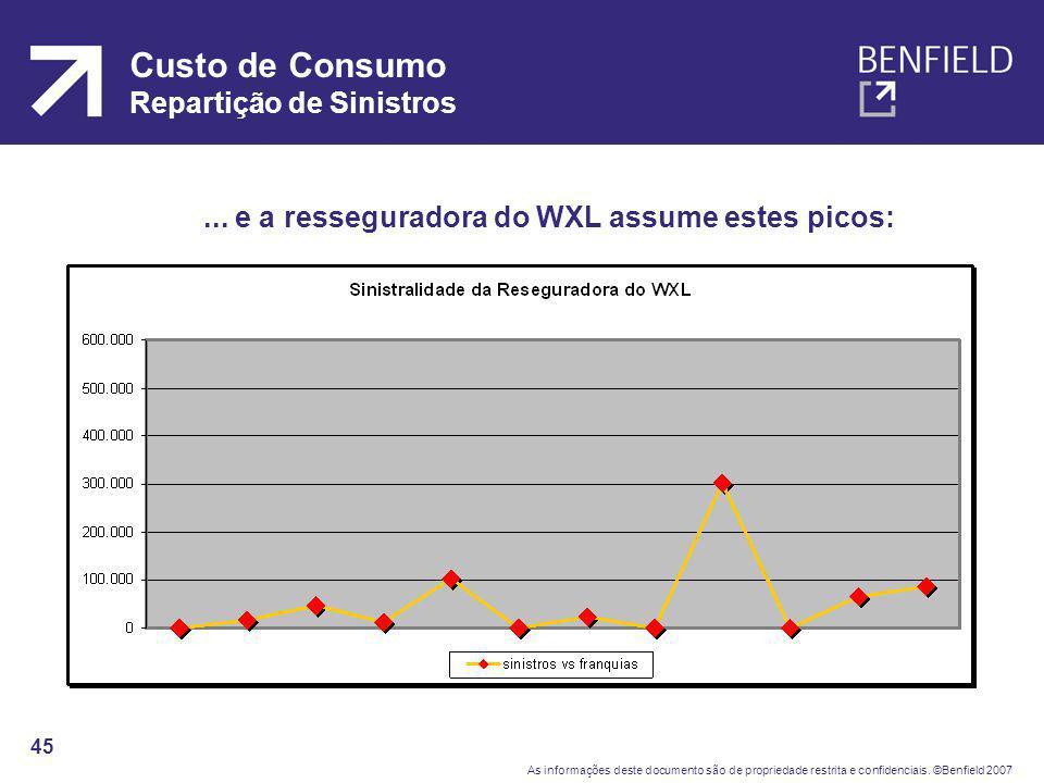 Custo de Consumo Repartição de Sinistros