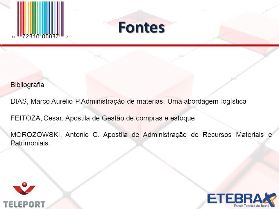 Fontes Bibliografia. DIAS, Marco Aurélio P.Administração de materias: Uma abordagem logística.